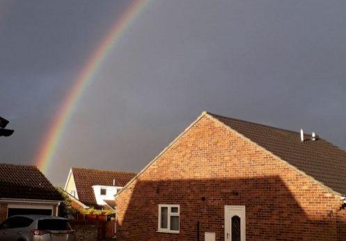 rainbow over Attleborough